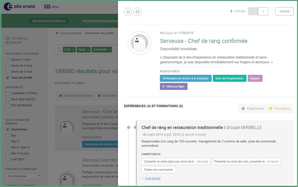 carte de visite pole emploi exemple Publiez votre Profil de compétences pour booster vos contacts avec