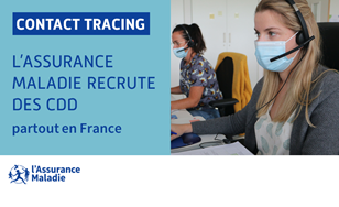 L'Assurance maladie recrute des téléconseillers contact tracing (H/F)