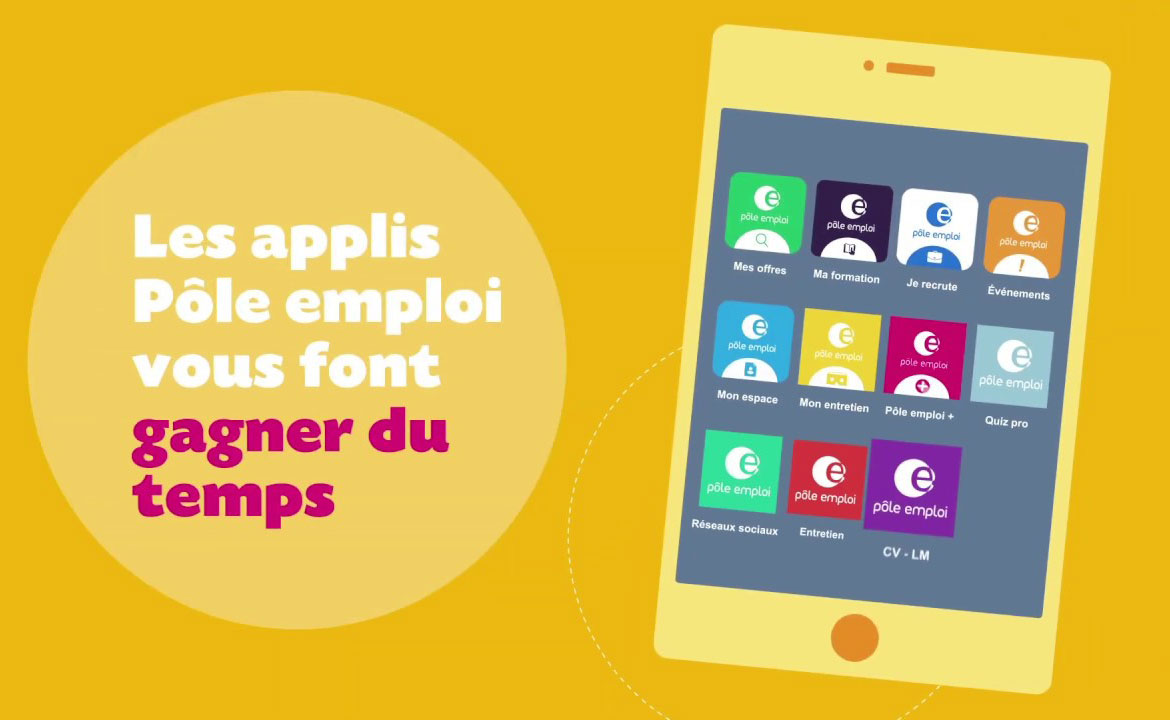 vignette applications mobiles Pôle emploi