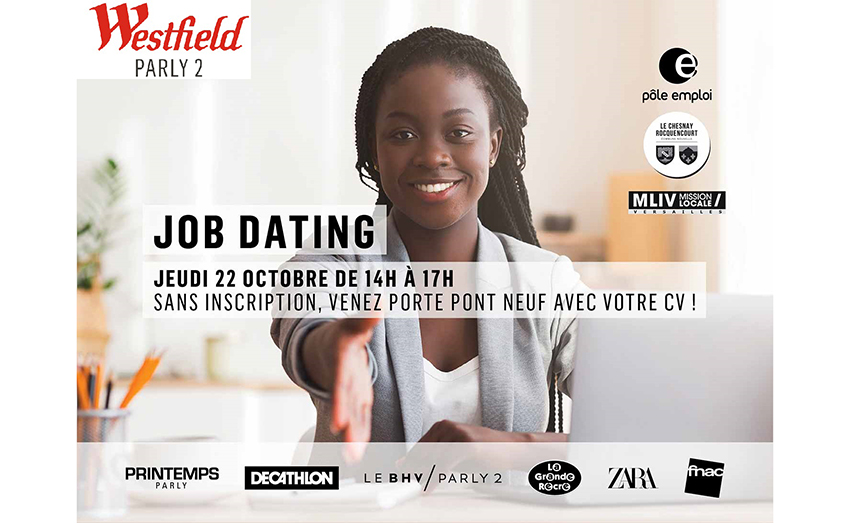 Job dating Westfield Parly 2